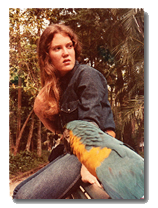 Picture of Carla with a parrot