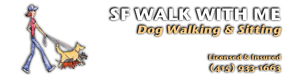 Image header of SF Walk With Me, Dog Walking and Sitting, Licensed and Insured, (415) 933-1663